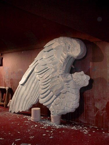 Blue foam carving- wing